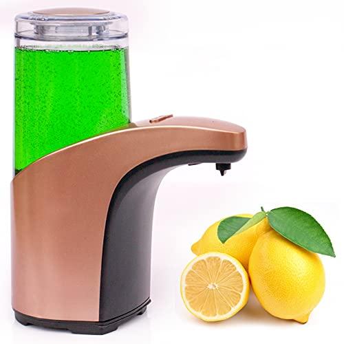 Bauqoo Dispenser Sapone Automatico Ultima Generazione Erogatore Sapone Sensore a Infrarossi Colore Rose Gold Disinfettante Mani Accessori per la Casa Dosatore Igienizzante Idea Regalo 300 ml
