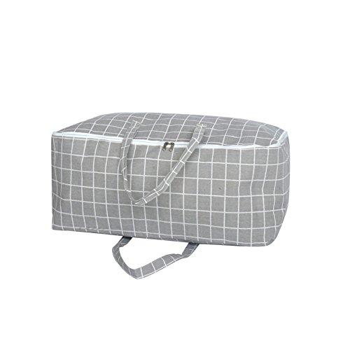 Rojeam Faltbare Reißverschlusstasche für Steppdecken, Kleidung, Decken, Tagesdecken(Grau)