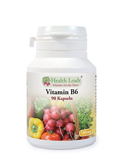 Vitamin B6 100mg x 90 Kapseln (Ohne Magnesiumstearat)