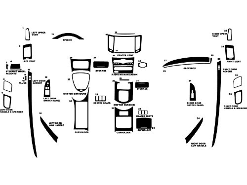 Rvinyl Rdash Dash Kit Decal Trim for Infiniti G37 2008-2009 (Convertible) - Carbon Fiber 4D (Black) Carbon Fiber Interior Trim Applique