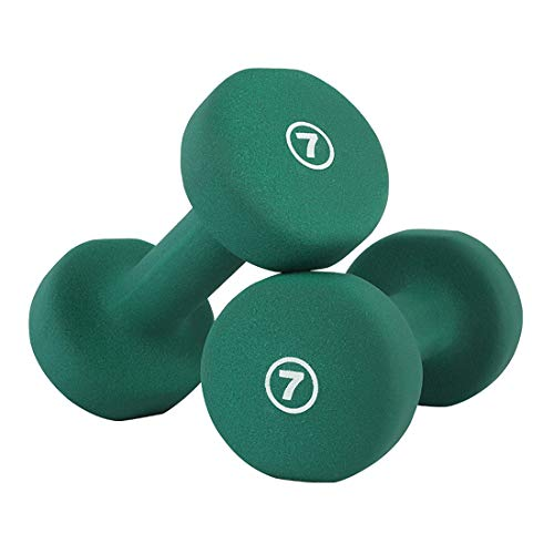 Dumbells Sets, Cast Iron Hex Color Dumbbells Weights for Women and Men, 1lb, 12lb, 3lb, 4lb, 5lb, 6lb, 7lb, 8lb, 10lb, for Core and Strength Training,7lb*2