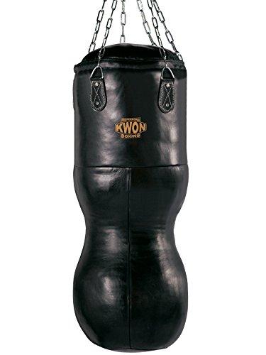 Kwon Hook Leder Sandsack 100-200 cm gefüllt schwarz