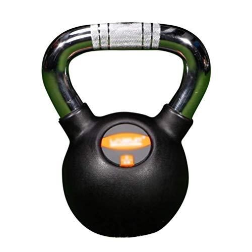 XHCP Kettlebells Out Fitness Kettlebells Schwarzes Gusseisen, rostfreie Griffe, Krafttrainingsgeräte für den Haushalt, 4 kg / 6 kg / 8 kg / 10 kg / 12 kg / 16 kg / 20 kg (Größe: 20 kg)