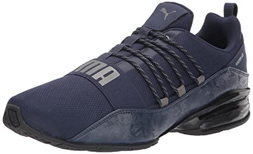PUMA Men's Cell Regulate Running Shoe, Peacoat-Castlerock Black, 11