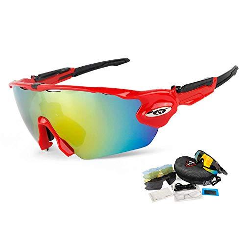 Gafas de Ciclismo Sunglasses Gafas De Pesca De Alta Definición 5 Lentes Gafas De Pesca Polarizadas Uv400 Senderismo Gafas De Sol De Camping Gafas De Ciclismo Deportivas R