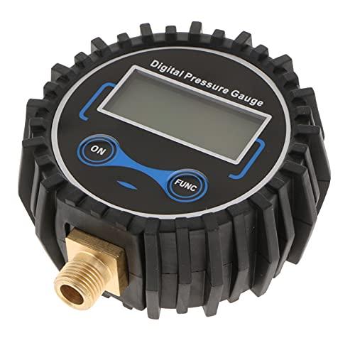 MHXY Accesorios de neumáticos Medidor de presión de inflador de neumático Digital 200 PSI con Conector rápido con conexión Negra Práctico y Conveniente