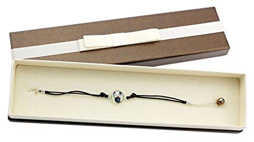 ArtDog Ltd. Französische Bulldogge, Armband mit Box für Leute, die Hunde lieben, Foto-Schmuck, Handmade