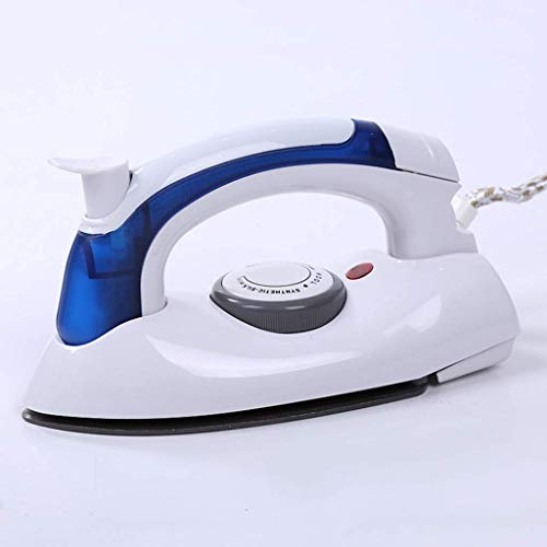 Travel Steam Iron, inklapbare handgreep Krachtige 1600w Ceramic Soleplate zelfreinigende functie Small Compact Irons strijkplank 8bayfa