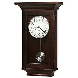 Howard Miller Gerrit Wall Clock 625-379 – Black Coffee with Quartz, Dual-Chime Movement