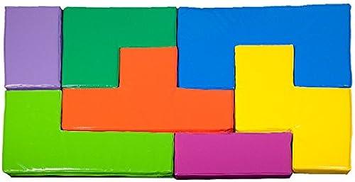 kidunivers Jeu de Tetris Géant aus Schaumstoff 7-teilig