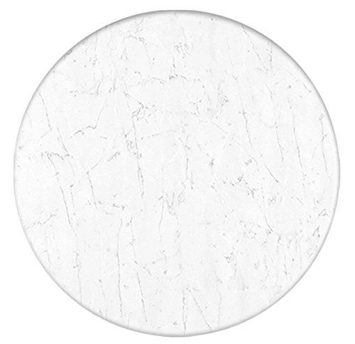 Werzalit / hochwertige Tischplatte/Marmor Bianco/runde Form 60 cm/Bistrotisch/Bistrotische/Gartentisch/Gastronomie
