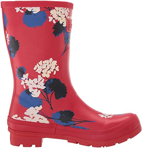 Joules Molly Welly, Botas de Agua para Mujer, Rojo (Red Lily Floral REDLILYFLR), 36 EU