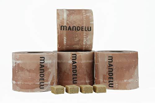 Mandelu Wachsrollen 4 Stück mit Anzündwürfeln