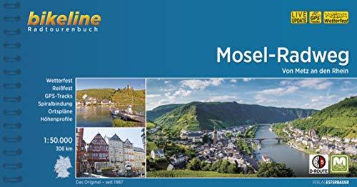 Mosel-Radweg: Von Metz an den Rhein, 1:50.000, 306 km, wetterfest/reißfest, GPS-Tracks Download, LiveUpdate (Bikeline Radtourenbücher)