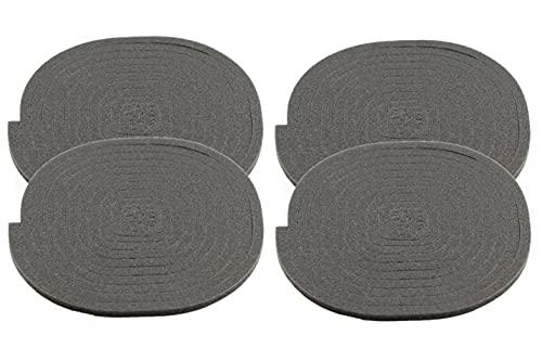 ALGOMAS© 4 Juntas universales de asiento para vitrocerámica o inducción,220cm de longitud, 0.5cm de ancho/alto, adhesiva y de fácil instalación