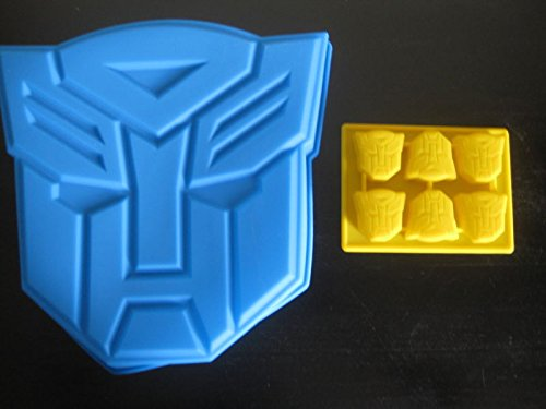 NEW TRANSFORMERS AUTOBOTS SILICONE BIRTHDAY CANDY MOLD CAKE PAN PARTY SET OF 2
