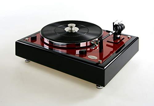 Restaurierter & Modifizierter Thorens TD 166 Spezial Plattenspieler Caliente red metallic / schwarz