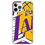 Movilshop Funda para [ iPhone 12 Pro MAX ] NBA Equipos Oficial [Los Angeles Lakers] Baloncesto California de Silicona Flexible Transparente Carcasa Case Cover Gel para Smartphone.