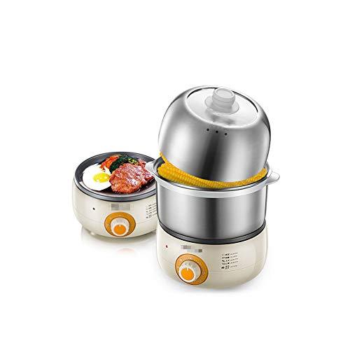 NAFE Hervidor de Huevos eléctrico de Doble Capa Caldera de Huevo para hervir Duro o Suave, visualizar la Tapa, hasta 14 Huevos Capacidad 220V 360W Caza furtiva y tazón de Tortilla incluidos