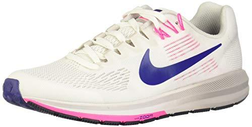Nike W Air Zoom Structure 21, Zapatillas de Entrenamiento Mujer, Blanco (Summit White/Deep Royal Blue/Navy 101), 38 EU