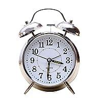 """目覚まし時計 4""""目覚まし時計レトロな大きさのダブルベルの機械キータイマー"""