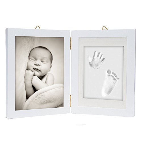 chuckle Kit de Marco para Impresión de Pies y Manos de Bebé - Regalo de Recién Nacido