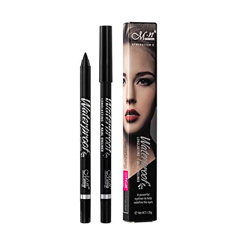 Ardorlove Black Eyeliner Pencil Waterproof Non-smudged Eyeliners Long-lasting Quick Dry Perfect Slim Superliner