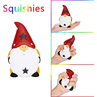 2018 Christmas Cartoon Santa Claus Scented Squishy Toys, YUYOUG 14.5 cm Stress Relief Toys Squishy Cream Squishy Slow Rising Squeeze Strap Kids Gift Fun Soft Toy Jumbo Collection Gift