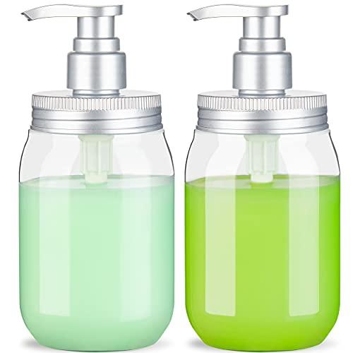 (450 ml x 2) Botella dispensadora con dispensador de jabón Tipo Bomba / Botella dispensadora Recargable y dispensadores de jabón