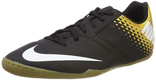 Nike Herren Bomba Ic Fußballschuhe, Mehrfarbig (Black/White/MTLC Vivid Gold 077), 42.5 EU