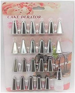S.Han 24 Set Icing Nozzle Tips Russian Piping Tips Set Baking Cake Decoration Tool