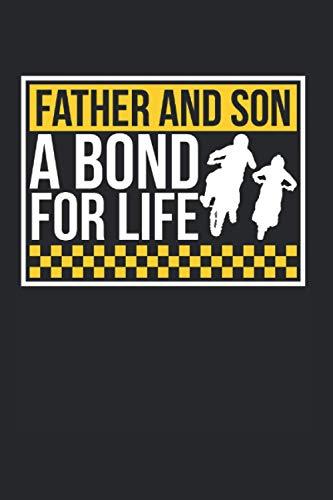 Father And Son A Bond For Life: Motocross & Biker Notizbuch 6'x9' Offroad Geschenk Für Bikerin