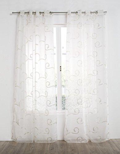RIOMA Augusta 02-Tenda con ollados, 140 x 270 cm