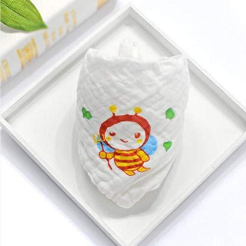 MXJ61 Bavoirs de bébé Triangle Towel Cotton 1-2 Ans Grand Automne et Hiver Six Couches Personnalité ( Couleur : Bee pattern , taille : 3 Pcs/Set )