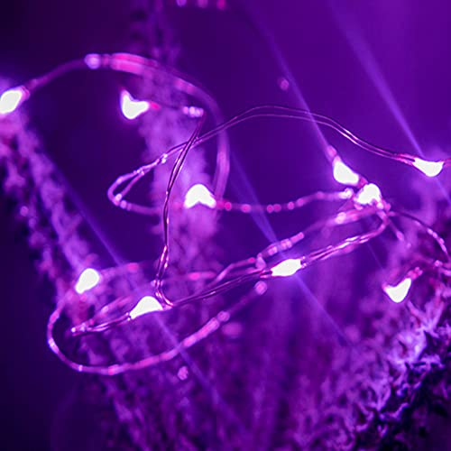 Guirnalda Luces LED, Luces Navidad USB para Navidad Luces de Cadena Micro Guirnaldas Decoracion, para Decoración Interior Bodas Fiesta (Luz púrpura, 20m200 Lámpara)