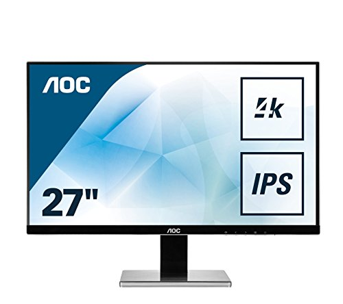 AOC U2777PQU 68,6 cm (27 Zoll) Monitor (IPS, DVI, HDMI, 4ms, DisplayPort, IPS Panel, USB, 60 Hz, 3840 x 2160 Pixel, UHD) schwarz