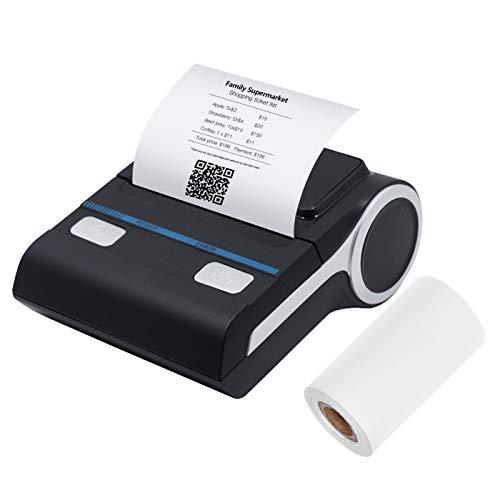 Festnight Stampante per Ricevute Portatile da 80 mm Stampante Termica wireless BT per Ricevute Stampante mobile per fatture compatibile con sistema Android/iOS/Windows Comando di Stampa ESC/POS
