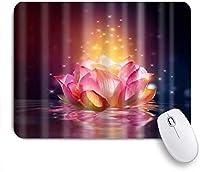 ZOMOY マウスパッド 個性的 おしゃれ 柔軟 かわいい ゴム製裏面 ゲーミングマウスパッド PC ノートパソコン オフィス用 デスクマット 滑り止め 耐久性が良い おもしろいパターン (ピンクスイレンロータススパークリングシャイニングオンウォーターモーブゴールド)