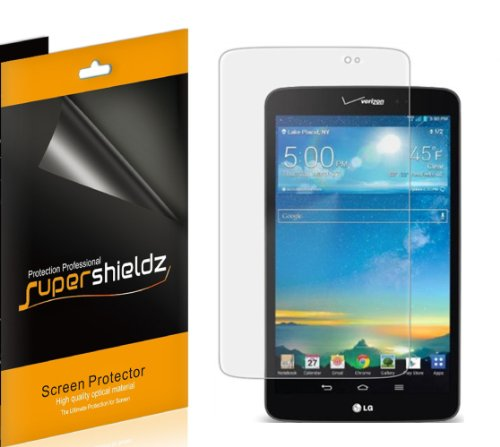 (3 Pack) Supershieldz for LG G Pad 8.3 LTE (Verizon Only) Screen Protector, High Definition Clear Shield (PET)