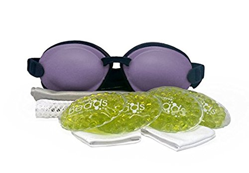 Tranquileyes Warm Compress with Microwavable Beads for Moderate Dry Eye Relief (Lavender)