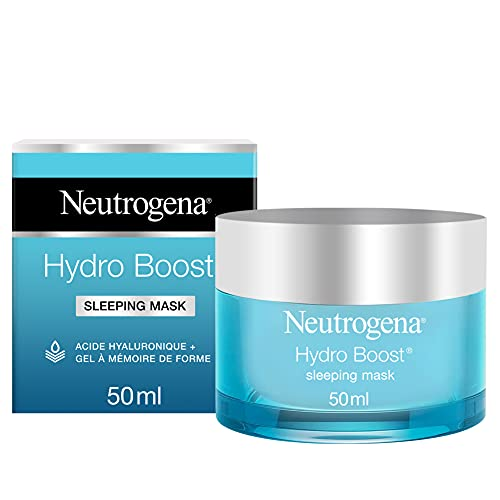 Neutrogena Hydro Boost - Mascarilla de Noche Hidratante para Evitar la Deshidratación de la Piel y Reducir los Signos de Fatiga, 50 ml