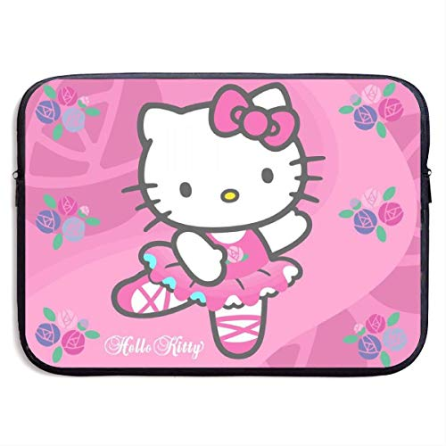 Water-Resistant Laptop Bags Amazing Cute He-llo-K-itty Ultrabook Briefcase Messenger Sleeve Case Bags 15'