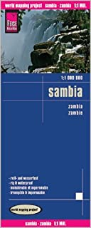 Zambia 1:1,000,000 Travel Map, waterproof, GPS compatible REISE, 2012 edition