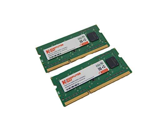 Komputerbay 8GB (2x 4GB) DDR3 SODIMM (204 broches) 1333Mhz PC3 10600 8 Go de mémoire pour ordinateur portable (pas pour les Macs)