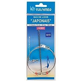 Flashmer – Bas De Ligne De Peche Japonais Acier Taille : 3 Clipots 15 Cm