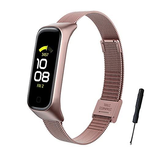 SenMore Correa para Samsung Galaxy Fit 2,Pulsera de Acero Inoxidable Wristband Repuesto Bandas Samsung Galaxy Fit 2(No Host)