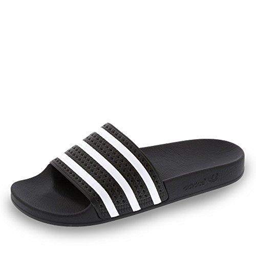 adidas Originals Adilette, Chanclas Hombre, Negro (Black/White/Black), 47 EU