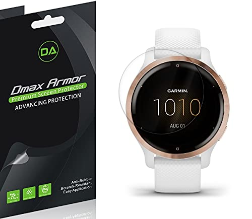 (3 Pack) Dmax Armor Designed for Garmin Venu 2S Screen Protector, (Full Screen Coverage) High Definition Clear Shield
