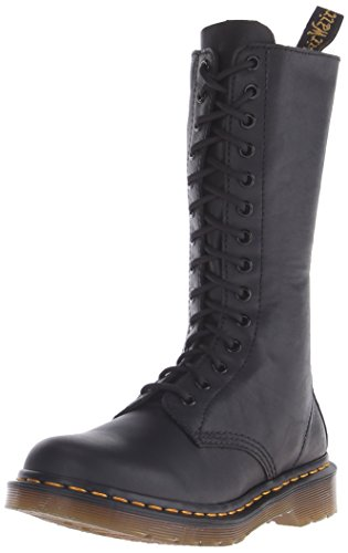 Dr. Martens 1B99 Virginia BLACK, Damen Combat Boots, Schwarz (Black), 38 EU (5 Damen UK)
