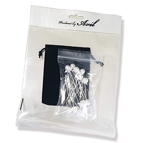 『AVILMORE パール 三つ葉 ヘアピン 6本セット 子供 発表会 アクセサリー 結婚式 収納袋付き』の4枚目の画像
